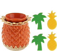 HomeWorx by Harry Slatkin Pineapple Warmer with 4 Meltables - H213650