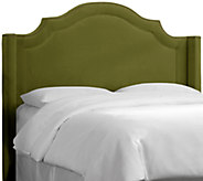 Nail Button Arched Wingback Velvet Headboard by Valerie Full - H284650