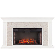 Canyon Heights Faux Stacked Stone Electric Fireplace - H291050
