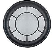 Oversized Round Black Mirror by Valerie - H291150