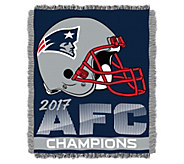2017 AFC Champs New England Patriots Jacquard Throw - H295750