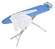 Honey-Can-Do Quad-Leg Ironing Board with Ironing Rest & Cover - H356450