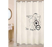 Vintage House World Natural/Black Shower Curtain - H356750