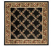 Lyndhurst Open Floral Power Loomed 67 X 67Square Rug - H356850