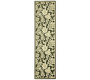 Treasures Allover Floral Power-Loomed Rug - 22 x 8 - H361850