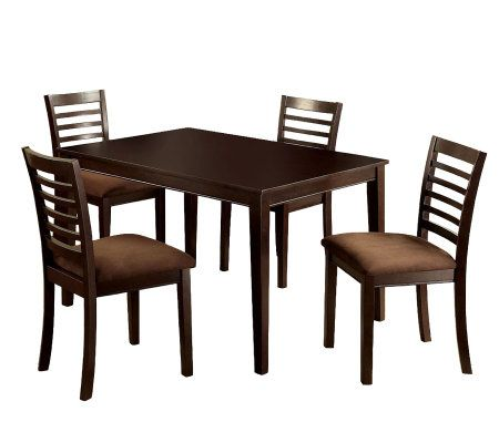 Eaton I 5 Piece Dining Table And Chairs Qvc Com