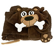 Berkshire Blanket Cuddly Buddy Plush Hooded Throw - H197851