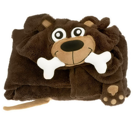 Berkshire Blanket Cuddly Buddy Plush Hooded Throw