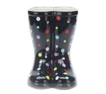 11-inch Indoor/Outdoor Ceramic Boot Shaped Planter by Valerie