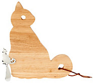 ED On Air Animal Cheese Board with Spreader by Ellen DeGeneres - H204151