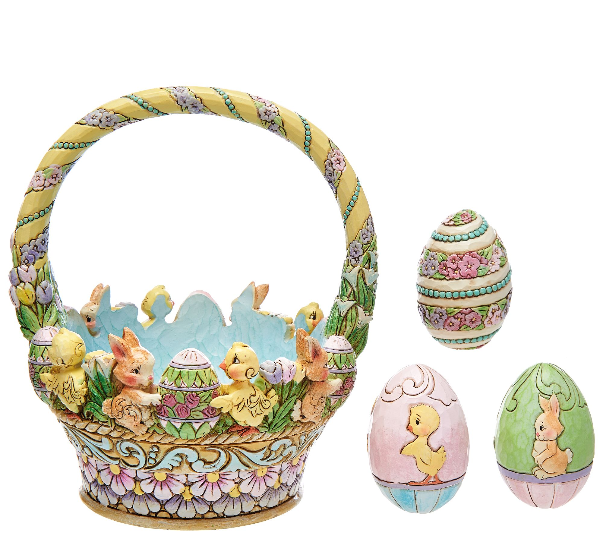 Jim shore 12th annual easter basket page 1 qvc negle Choice Image