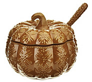 As Is Temp-tations Old World 4 qt. Embossed Pumpkin Tureen - H210751