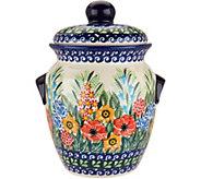 Lidias Polish Pottery Hand Painted 7 Cookie Jar - H211351
