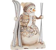 Jim Shore Heartwood Creek Woodland Snowman with Skis Figurine - H212251