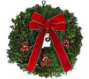 Del. Week 11/27 Fresh Balsam Jingle Bell Wreath by Valerie - H213051