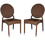 Safavieh Valdez Set of 2 Indoor/Outdoor Stacking Side Chairs - H283251