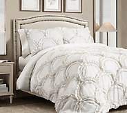 Chic 3-Piece White King Comforter Set by Lush Decor - H287551