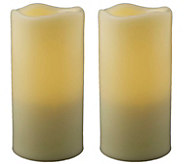 Pacific Accents Set of 2 Melted Resin 3 x 5-3/4 Candles - H287951