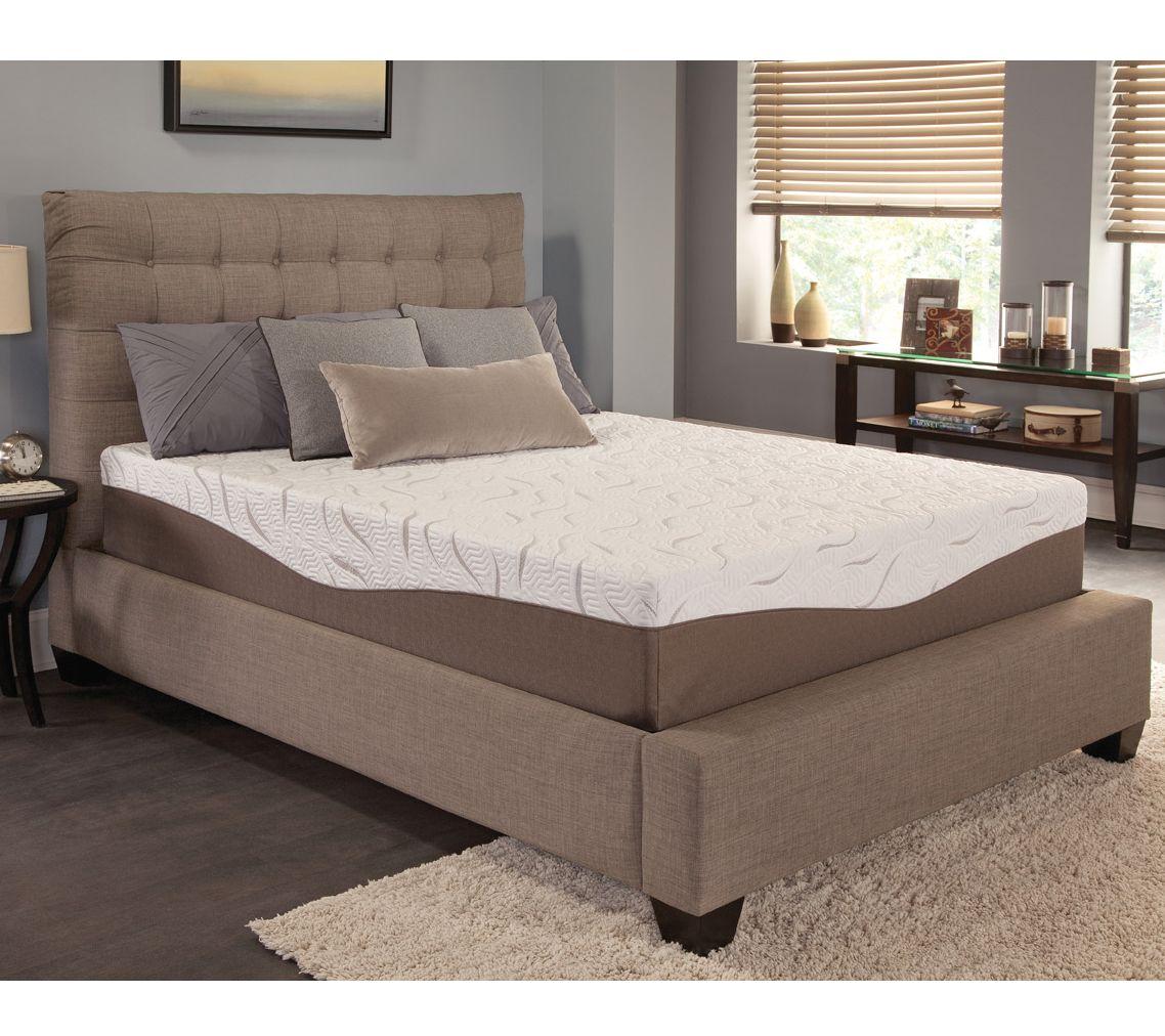 Energize 12quot gel memory foam ck mattress page 1 qvccom for Qvc sofa bed