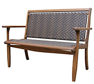 Outdoor Interiors Eucalyptus & Wicker Bench - H297151
