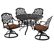 Home Styles Floral Blossom 5-pc 48 Dining Setw/Swivel Chairs - H367851