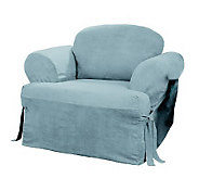 Sure Fit Soft Suede T-Cushion Chair Slipcover - H142452