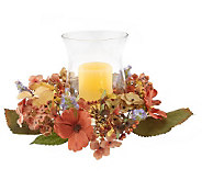 AutumnHydrangea Centerpiecew/5 FlamelessCandle w/Timer by Valerie - H164152