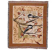 Autumn Chickadee Throw by Simply Home - H177152