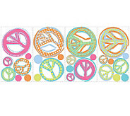 RoomMates Girls Peace Signs Peel & Stick Wall Decals - H186252