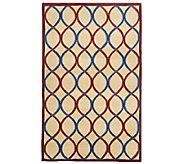 Royal Palace Trellis 5 x 8 Handmade Wool Rug - H202352
