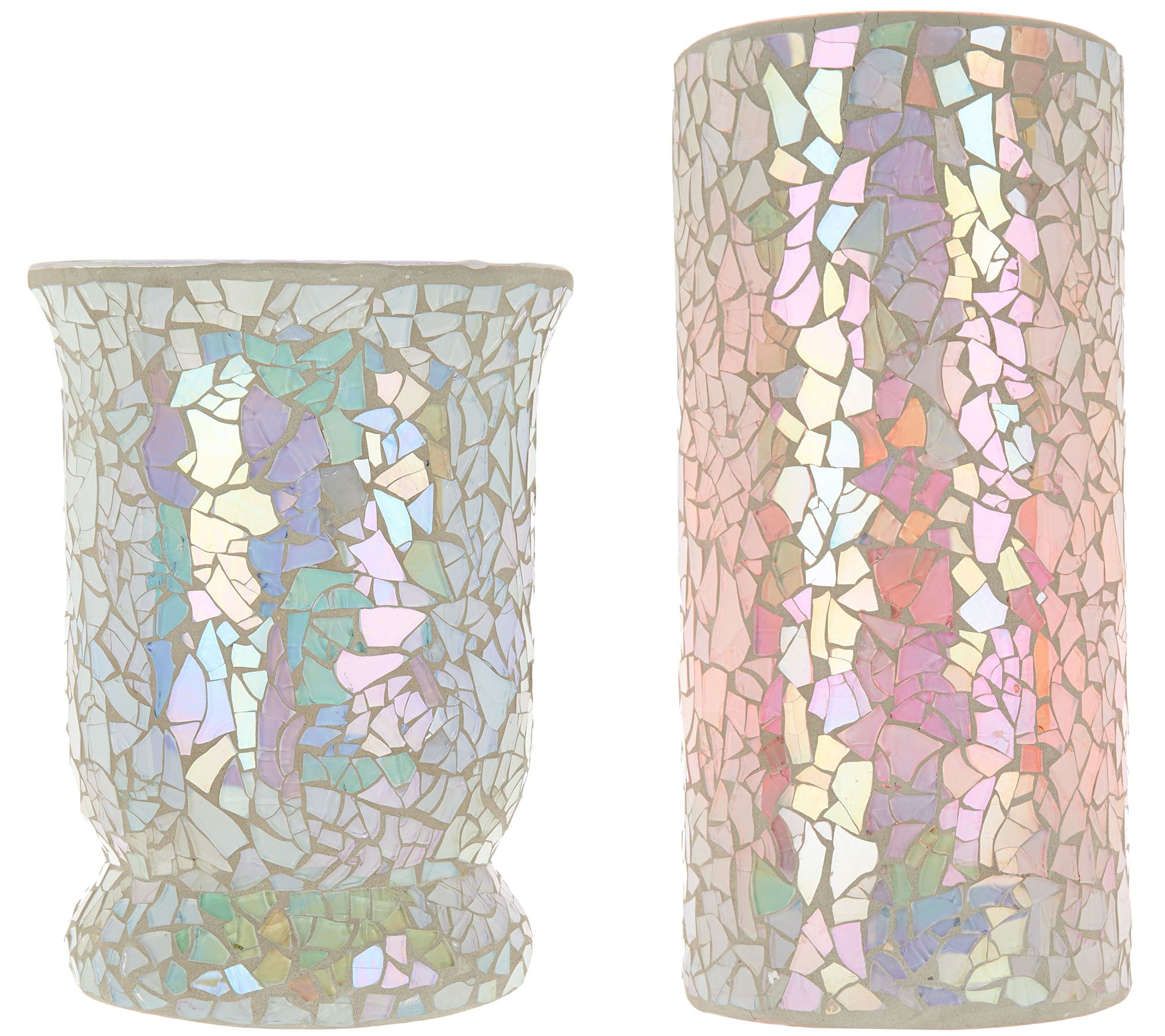 Pastel Mosaic Murricane or Column w/ Multi- Function Light