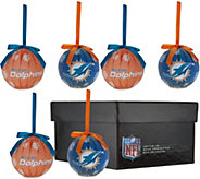 NFL Set of 6 Light-Up_Ball Ornaments w/Gift Box - H208652