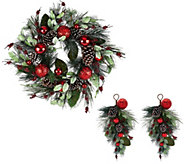 Pinecone, Berry and Ornament Collection by Valerie - H208852