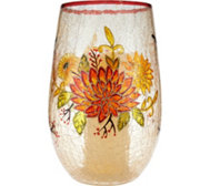 "Plow & Hearth 11"" Glass Hurricane w/ Flameless Candle"