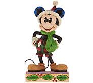 Jim Shore Disney Traditions Christmas Mickey Figurine - H209652