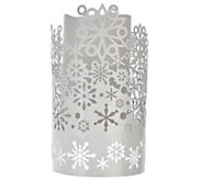 As Is Lightscapes Die Cut Metal Sleeve with FlamelessCandle - H210352