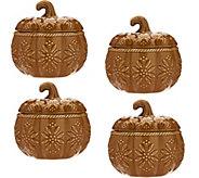 As Is Temp-tations Old World S/4 12 oz. Pumpkin Soup Bowls - H210752