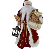 Silent Lights Santa Tree Topper with Moving Laser Projections - H212152