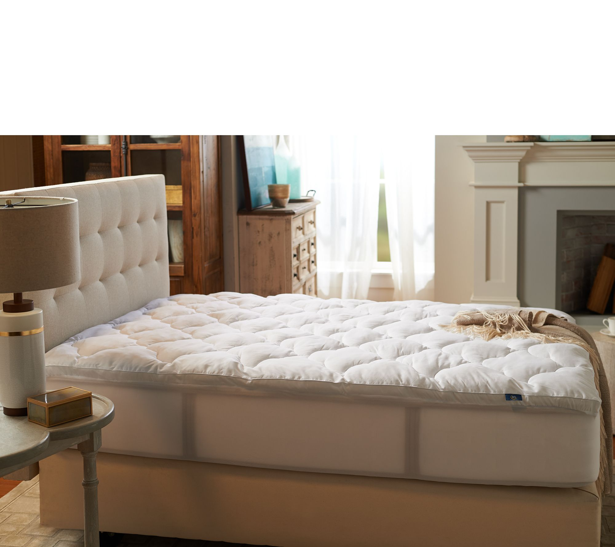 Serta Full Fiber Fill Mattress Topper with Stain Repellency Page