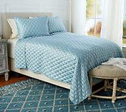 Fielder Home Diamond Stitch 3-Piece FL/QN Quilt Set - H215452