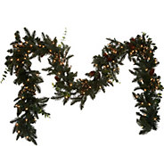 As Is Bethlehem Lights 9 Lit Eucalyptus Pine Garland - H216152