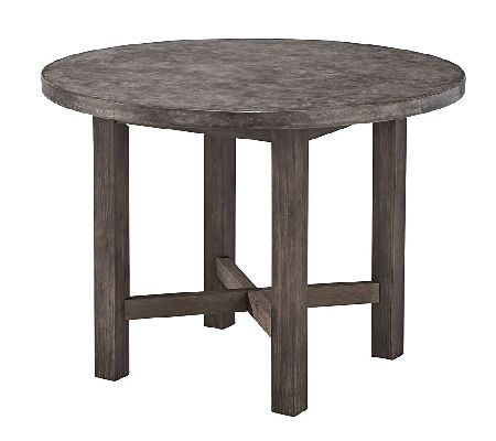 home styles outdoor concrete chic round diningtable. Black Bedroom Furniture Sets. Home Design Ideas