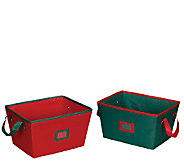 Household Essentials Holiday Set of 2 Bins withHandles - H284552