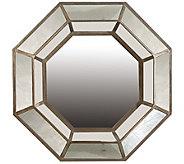 Octagonal Mirror with Bronze Trim by Valerie - H291152