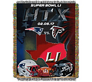 NFL 2017 Dueling Stateline Patriots vs Falcons48x40 Throw - H291252