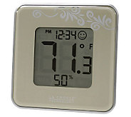 La Crosse Technology 302-604B Silver Thermometer & Hygrometer - H356352