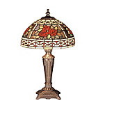Tiffany Style 16-1/2 Roses & Scroll Dome MiniLamp - H122453