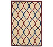 Royal Palace Trellis 4 x 6 Handmade Wool Rug - H202353