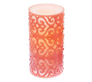 As Is Candle Impressions 6 Flameless Moroccan Candle w/ Prog. Timer - H206853