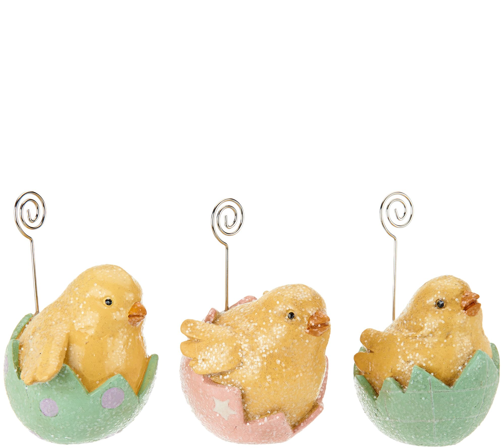 Set of 3 Bunny or Chick Placecard Holders by Valerie